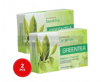 2 Pcs Sabun Mandi Tazakka Green Tea