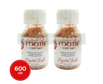 2 Botol Footis Foot Salt Pink 300 gr